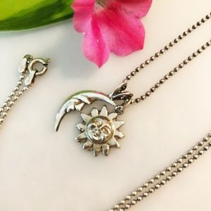Jewelry - Sterling Silver Chain with Sun & Moon Pendant